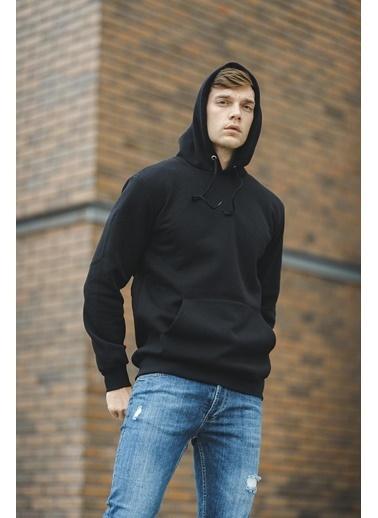 Oksit Lgg Aso Pamuklu Polar Sweatshirt Siyah